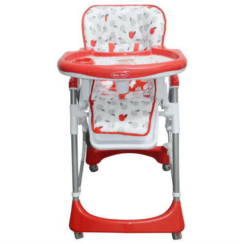 Baby Kits - Silla De Comer Alta Supper Roja