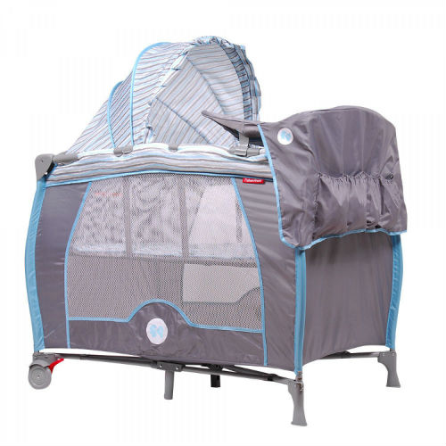 Corral Cuna Zooper Playard Blue Waves