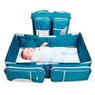 Maternelle - Cuna Convertible En Bolso 3 En 1 Azul