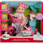 Mattel - Little Mommy Muñeca Paseo En Bici