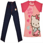 Hello kity - Polo Con Manga Y Legging Tipo Jean Hello Kitty