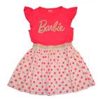 Barbie - Vestido Barbie, Blusa Rosada Y Falda Blanca