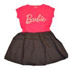 Barbie - Vestido Barbie, Blusa Rosada Y Falda Negra