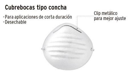 Trupper - Mascarilla Tipo Concha