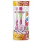 Nuby - Set de Cepillos Dentales 4 etapas rosa