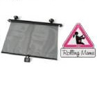 Reer - Cortina solar enrollable para auto y Sticker